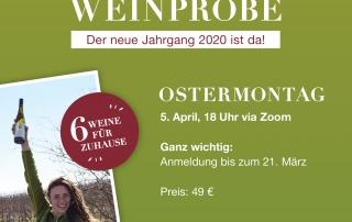 Online-Weinprobe Plakat