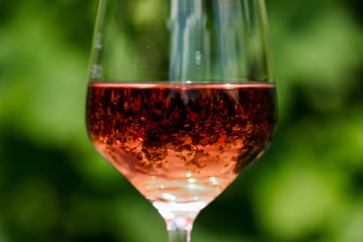 Roséwein im Glas